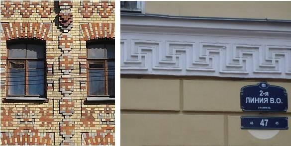 Фото: «Дом со свастиками» - Угловой переулок, дом № 7.