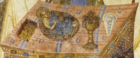 Фреска: Евхаристия (Христос на столе)