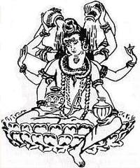 Рис. Шива (Шри Адинатх)